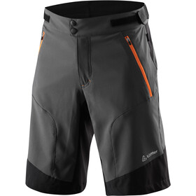 Löffler Romano Active Stretch Light Short de cyclisme Homme, anthracite/orange
